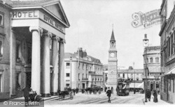 Plymouth, Derry's Clock And Royal Hotel c.1900