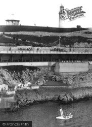 Plymouth, Lighthouse And Swimming Platform 1940