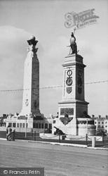 Plymouth, National Armada And Naval Memorials c.1955