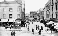 Plymouth, Old Town Street 1889