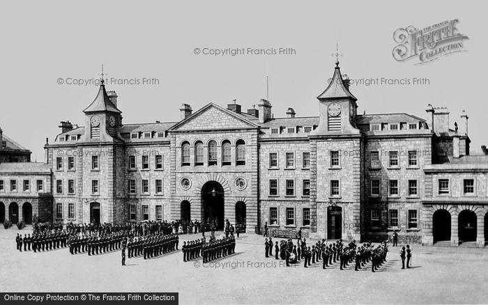 Photo of Plymouth, Royal Marine Barracks, Stonehouse 1890