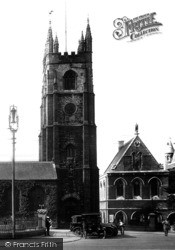 Plymouth, St Andrew's Church Tower 1925