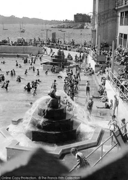 Photo of Plymouth, the Bathing Pool c1950