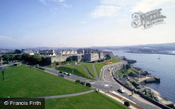 The Citadel And Cattewater Harbour From Smeaton's Tower c.1995, Plymouth
