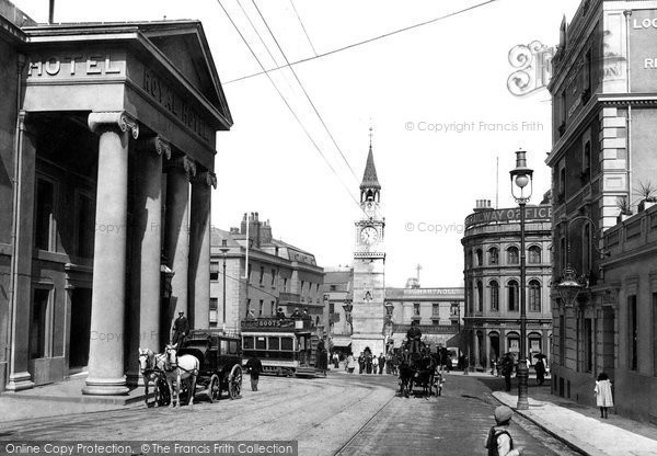 Photo of Plymouth, The Clock Tower 1900
