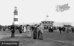 The Hoe And Smeaton's Tower 1913, Plymouth