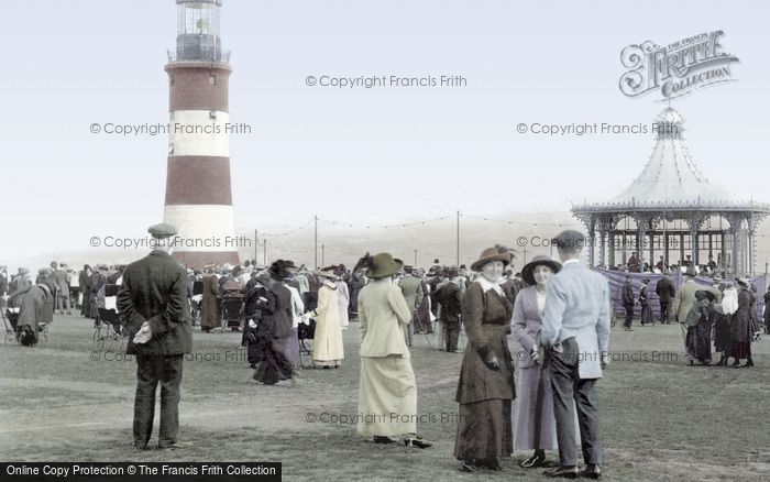 Photo of Plymouth, The Hoe And Smeaton's Tower 1913