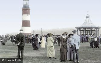 Plymouth, the Hoe and Smeaton's Tower 1913