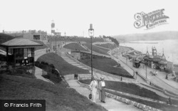 The Hoe, Smeaton's Tower And Bandstand 1913, Plymouth