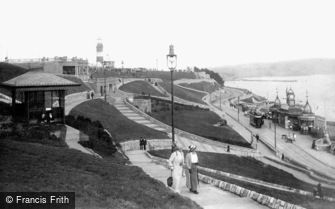 Plymouth, the Hoe, Smeaton's Tower and Bandstand 1913