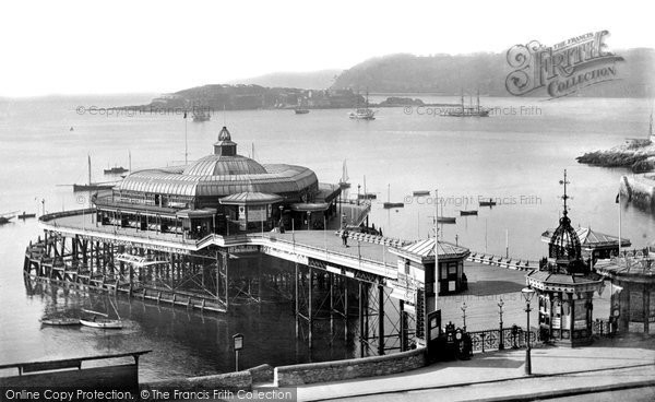 Photo of Plymouth, the Pier and Drake's Island 1892, ref. 30583