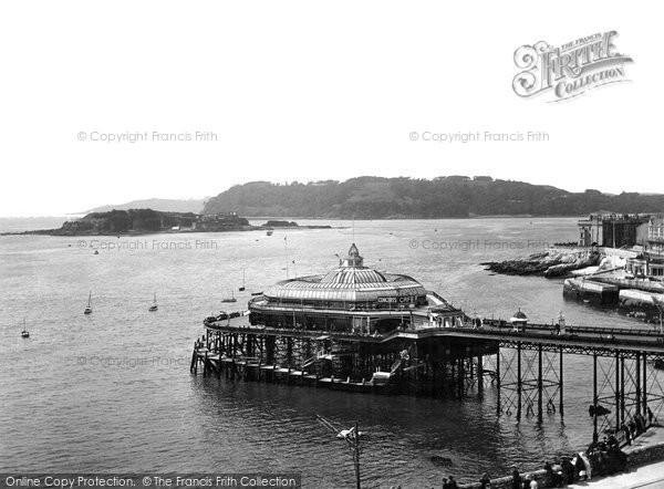 Photo of Plymouth, The Pier And Drake's Island 1924