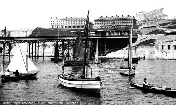 Photo of Plymouth, The Pier From Below 1889