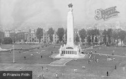 War Memorial From Lighthouse c.1950, Plymouth