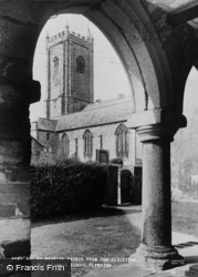 Plympton, St Maurice Church From The Cloisters, Old Grammar School c.1955