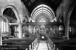 Plympton, St Maurice Church Interior 1898