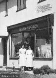 Plympton, Wren's Stores, Shop Staff c.1960