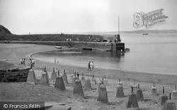 Polkerris, Beach And Pier c.1950