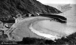 Polkerris, Breakwater And Beach c.1950