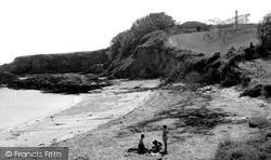 Polkerris, Polridmouth Beach Near Gribbin Head c.1960
