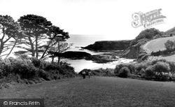 Polkerris, The Beach At Gribben Head c.1960