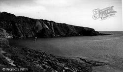 Polkerris, The Cliffs c.1960