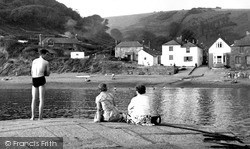 Polkerris, The Harbour c.1960
