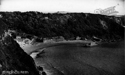 Polkerris, View From The Cliffs c.1955