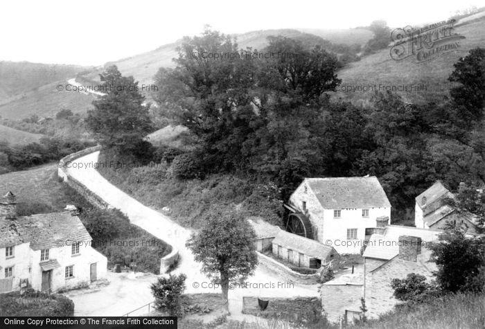 Polperro,Crumplehouse Mill 1908,Cornwall