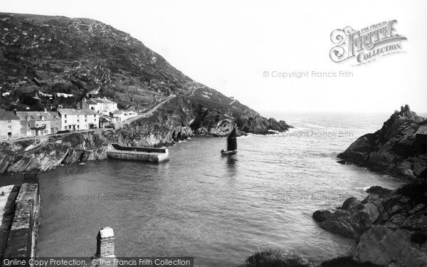 Photo of Polperro, Entrance To The Harbour 1888