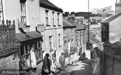 Fore Street And Post Office c.1955, Polruan
