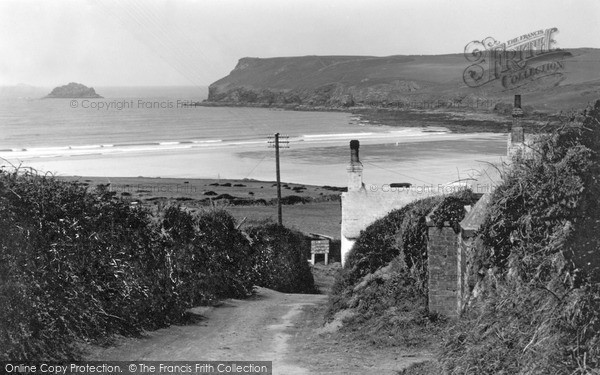 Photo of Polzeath, From Trebetherick Hill c.1950
