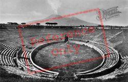 Amphitheatre And Vesuvius c.1920, Pompeii