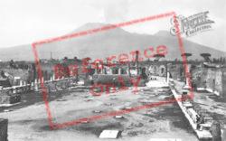 Forum And Vesuvius c.1920, Pompeii