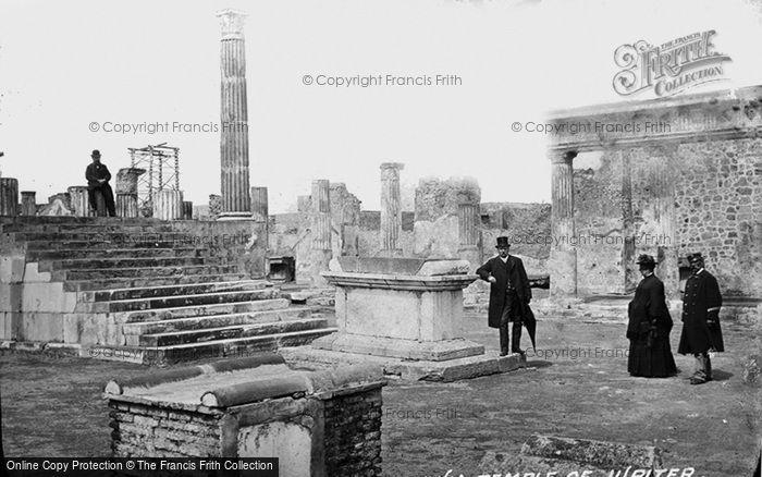 Photo of Pompeii, Forum, Temple Of Jupiter c.1875