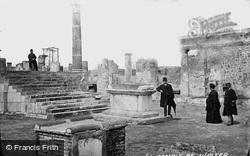 Pompeii, Forum, Temple Of Jupiter c.1875