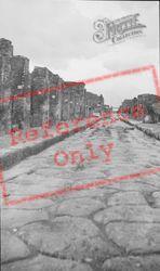 Paved Street c.1930, Pompeii