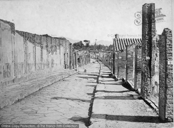 Photo of Pompeii, Strada Dell' Abondanza c.1875