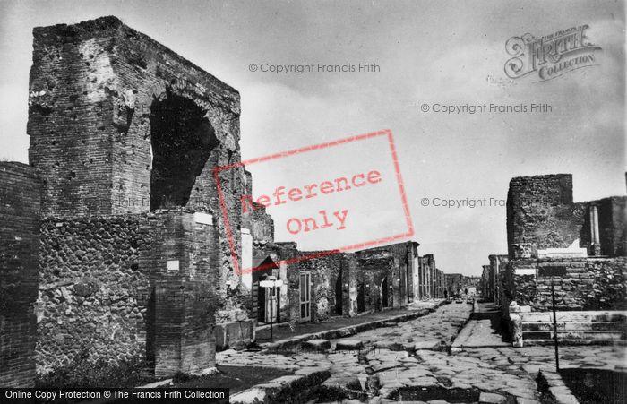 Photo of Pompeii, Street And Temple Of Fotuna Augusta c.1920