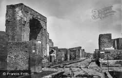 Street And Temple Of Fotuna Augusta c.1920, Pompeii
