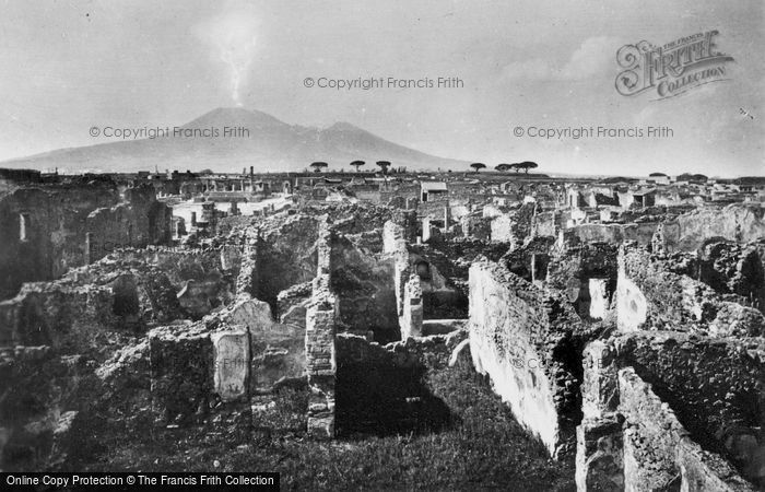 Photo of Pompeii, View Towards Vesuvius c.1920
