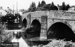 Pont-Ar-Gothi, The River And Bridge c.1955