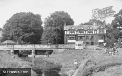 Ponteland, Paddling Near The Diamond Inn c.1955