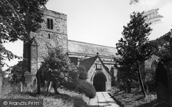 Ponteland, St Mary's Church c.1955