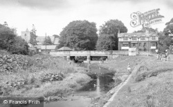 Ponteland, The Diamond Inn And Bridge c.1955