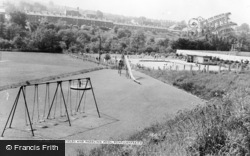 Pontllanfraith, Playing Fields And Paddling Pool c.1960