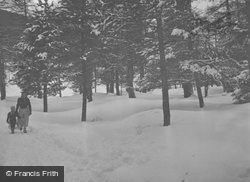 A Walk In The Snow c.1937, Pontresina