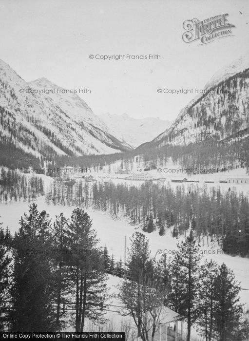 Photo of Pontresina, The Mountains c.1937