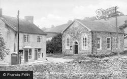 Pontrobert, Post Office And Methodist Church c.1955
