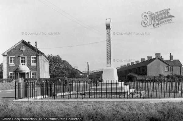 Pontyclun, Cenotaph and Masonic Hall c1955